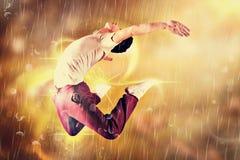 Imagem composta do dançarino fresco da ruptura foto de stock royalty free