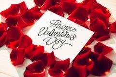 Imagem composta do dia de Valentim feliz Imagem de Stock