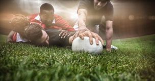 Imagem composta do estádio do rugby foto de stock