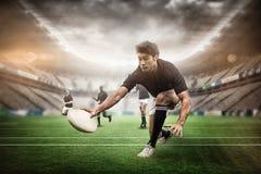 Imagem composta do estádio do rugby fotos de stock royalty free