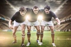 Imagem composta do estádio do rugby fotos de stock