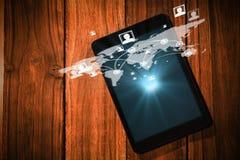 Imagem composta do fundo global 3d da tecnologia Fotografia de Stock Royalty Free