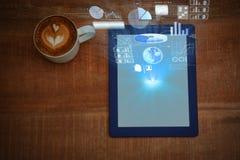 Imagem composta do fundo global 3d da tecnologia Imagens de Stock