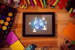 Imagem composta do fundo global da tecnologia Foto de Stock Royalty Free