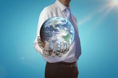 Imagem composta do globo da terra 3d Imagem de Stock Royalty Free