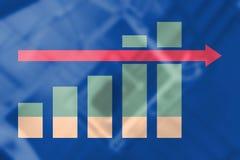 Imagem composta do gráfico e da carta de negócio Fotografia de Stock