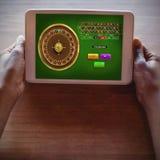 Imagem composta do jogo em linha da roleta fotos de stock