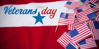 Imagem composta do logotipo para o dia de veteranos em América Fotos de Stock Royalty Free