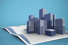 Imagem composta do mapa do mundo 3d Fotos de Stock