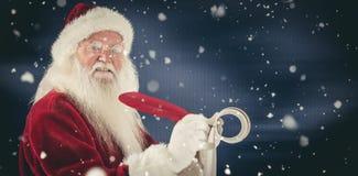 A imagem composta do Natal do pai redige uma lista Fotos de Stock
