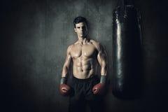 Imagem composta do pugilista muscular Imagens de Stock Royalty Free