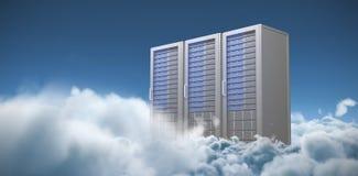 A imagem composta do servidor três cinzento digital eleva-se ilustração do vetor
