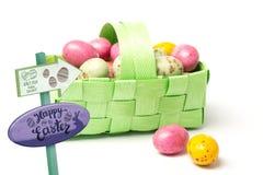 Imagem composta do sinal da caça do ovo da páscoa Fotografia de Stock