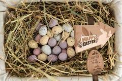 Imagem composta do sinal da caça do ovo da páscoa Imagem de Stock