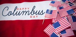 Imagem composta do título para a celebração do dia do colombus Foto de Stock Royalty Free