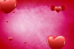 Imagem composta do teste padrão 3d do coração do amor Imagem de Stock Royalty Free
