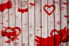 Imagem composta do teste padrão do coração do ~love Imagem de Stock Royalty Free
