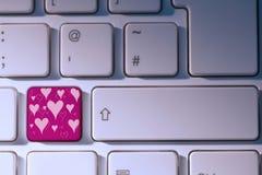 Imagem composta do teste padrão do dia de Valentim Fotografia de Stock