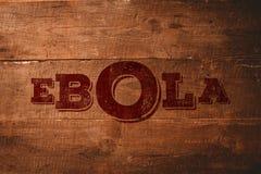 Imagem composta do texto vermelho do ebola Fotos de Stock
