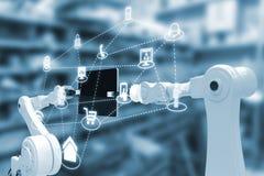 Imagem composta dos ícones 3d dos apps do smartphone Imagem de Stock