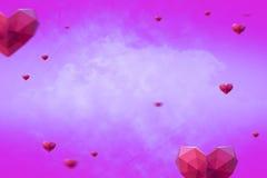 Imagem composta dos corações 3d Imagem de Stock
