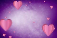 Imagem composta dos corações 3d Imagens de Stock