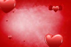 Imagem composta dos corações 3d Foto de Stock
