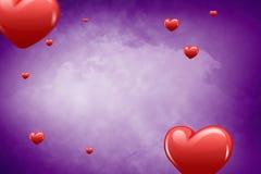 Imagem composta dos corações 3d Fotografia de Stock Royalty Free