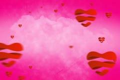 Imagem composta dos corações 3d Imagem de Stock Royalty Free