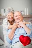 Imagem composta dos corações superiores 3d dos pares e dos Valentim Imagem de Stock