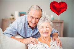 Imagem composta dos corações superiores 3d dos pares e dos Valentim Foto de Stock Royalty Free