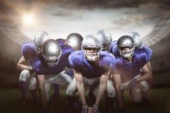 Imagem composta dos jogadores de futebol americano 3D Imagem de Stock