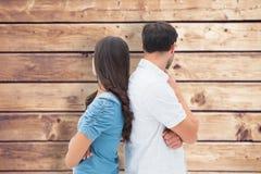 Imagem composta dos pares da virada que não falam entre si após a luta fotografia de stock royalty free