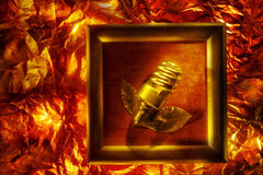 Imagem conceptual com lâmpada espiral Imagens de Stock Royalty Free