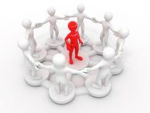 Imagem conceptual da liderança fotografia de stock royalty free