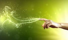 Imagem conceptual das mãos mágicas imagens de stock royalty free