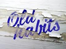 Imagem conceptual da mudança velha do estilo de vida dos hábitos Imagem de Stock Royalty Free