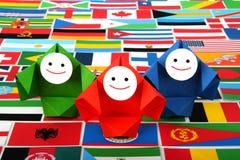 Imagem conceptual de relações internacionais Imagens de Stock Royalty Free