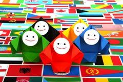 Imagem conceptual de relações internacionais Fotografia de Stock Royalty Free