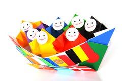 Imagem conceptual de relações internacionais Imagem de Stock