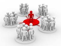 Imagem conceptual do líder ilustração stock