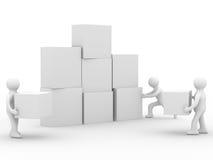 Imagem conceptual dos trabalhos de equipa Imagem de Stock