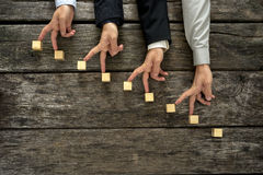Imagem conceptual dos trabalhos de equipa e da cooperação imagens de stock royalty free