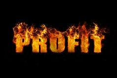 Imagem conceptual que ilustra o lucro da palavra Imagem de Stock