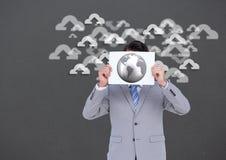 Imagem conceptual que mostra a computação da nuvem Imagem de Stock Royalty Free