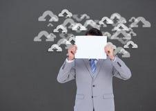 Imagem conceptual que mostra a computação da nuvem Foto de Stock