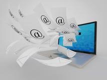 Muito email ilustração do vetor
