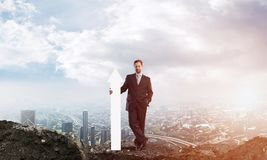Imagem conceptual startup do homem de negócios ilustração stock