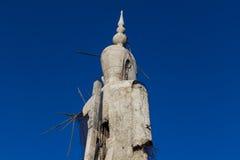 Imagem concreta incompleta inacabado de buddha Foto de Stock