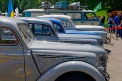 Imagem conservada em estoque automobilístico do vintage de Moskvich 401 Foto de Stock